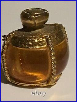 Vintage YSL Yves Saint Laurent Perfume Bottle Gold Plated Brooch