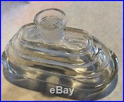 Vintage glass Nude In A Fountain Perfume Bottle