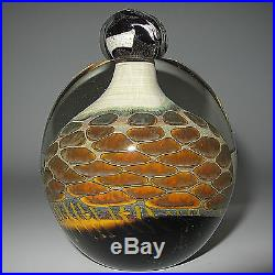 Vtg 2001 Sign Steve Main Blown Crystal Perfume Bottle WithPatterns Found In Nature