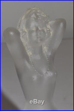 Vtg Art Deco Viard Figural Nude Glass Perfume Bottle