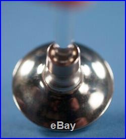 Vtg DeVilbiss Black Silver Perfume Bottle & Atomizer Art Deco