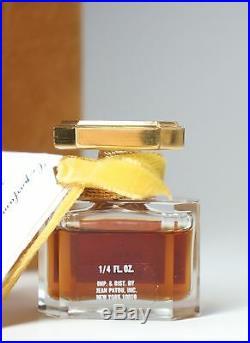 Vtg Jean Patou 1000.25 Fluid Ounce Original Box Baccarat Crystal Bottle Sealed