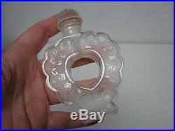 Vtg Lalique France Nina Ricci Coeur Joie Perfume Bottle Heart Shape Open Center