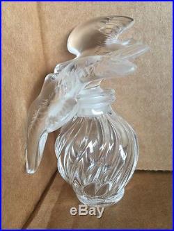 Vtg. Lalique Nina Ricci Double Doves Perfume Bottle L Air de Temps Paris France