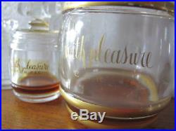 WITH PLEASURE Perfume by CARON 4 oz. BACCARAT 3 Bottles flacons VINTAGE 1949